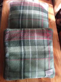 Tartan fleece cushions