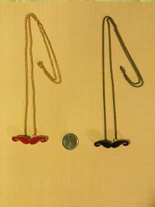 Mr. Golden Mustache Bohemia Pendant Necklaces