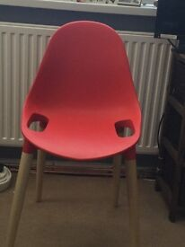 2x Red Palermo Stacking Chairs