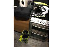 Motocross helmet fox comp 5 boots 100% & Oakley goggles