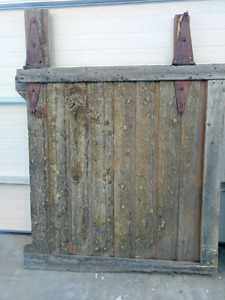 Antique barn doors with original hinges
