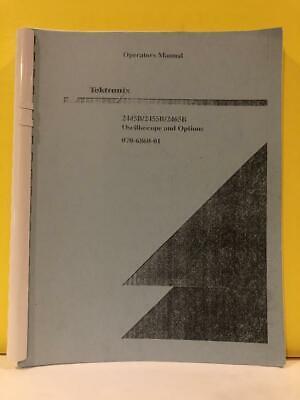 Tektronix 070-6860-01 2445b2455b2465b Oscilloscope Options Operators Manual