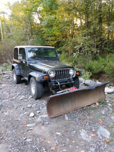 Jeep TJ with plow