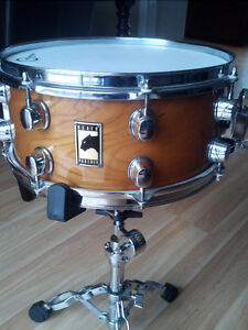 "13"" x 6"" Mapex Black Panther maple snare drum"