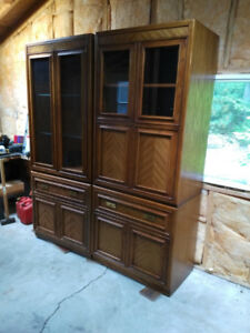 Solid Oak Wall Unit/Entertainment Center