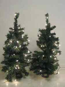 Christmas trees, wreaths, baskets, centerpieces, candy canes,