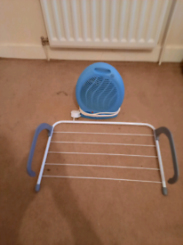 Fan and radiator clothes airer