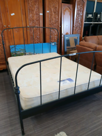 Kingsize bed with mattress, delivery available
