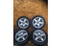 "MINI R56 ""16"" ALLOY WHEELS AND TYRES"