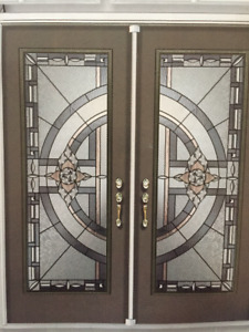 Glass inserts doors wrought iron glass stained glass decorative