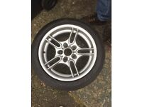 5 spoke BMW M sport 8J X 17 alloys x5