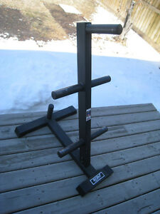 "TUFF STUFF WEIGHT TREE - 2""-Hole Olympic Plates - If interested"