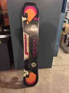 LIKE NEW k2 world wide weapon 152 and Brand new Drake Bindings Regina Regina Area image 2