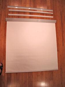 Roll Down Window Shades (white)