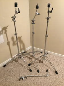 3 Brand New DW Boom Cymbal Stands + Arm