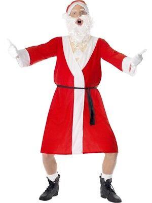 Santakostüm Nackter Nikolaus Stripper Santa Kostüm Bademantel Gr M (Bad Santa Kostüm)
