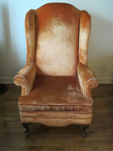 Chaise Queen Anne Wing Back / Queen Anne Wing Back Chair