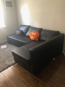 Black Leather SOFA BED Sectional for sale!!! Best Offer