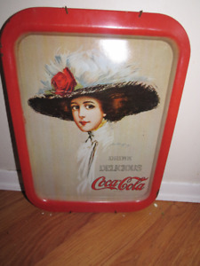 "Vintage ""Drink Delicious"" Coca-Cola Serving Tray 1971, Hamilton"