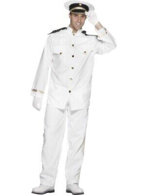 Kapitäns Kostüm Größe XL Herren Karneval Kapitän Pilot Seemann Offizier 24850