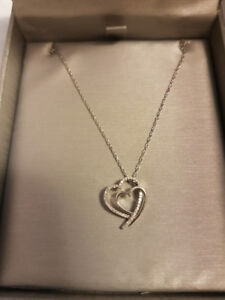 Peoples Jewellers Diamond Double Heart Necklace ($249 value)