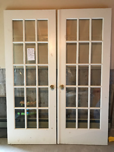 French Doors - Solid Wood - $150 OBO