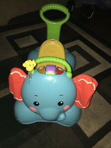 Fisher price bounce, stride and ride elephant