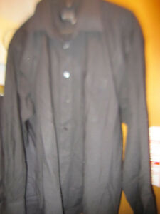 Hugo Boss Dress Shirt Black Made In Italy New