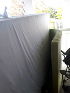 """Free Box spring and 2 """" formy and queen bed fram"""