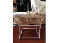 Moses Basket Stand Mattress & fitted sheets