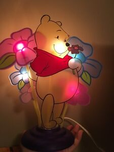 Winnie the Pooh clock, lamp and books with cds London Ontario image 3