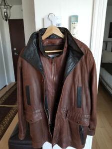 Manteau en vrai cuir