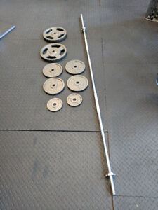 7' Barbell with weights
