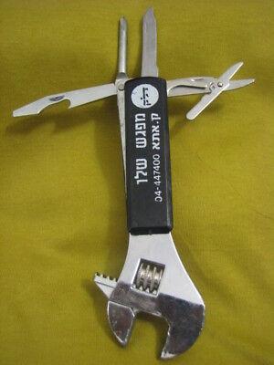Vintage Adjustable Spanner Set By Delek Israel Fuel Cor