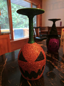 Halloween Themed Wine Glass Candle Holders Peterborough Peterborough Area image 6