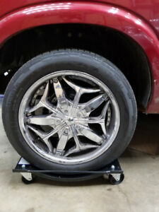 Alloy Chrome Rims and Tires