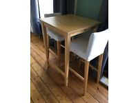 IKEA bar table and chairs - excellent condition