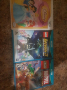 2 wii u games and a wii game
