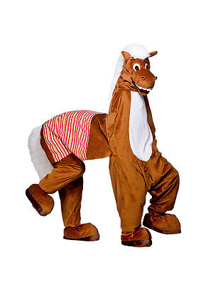Panto 2 Man Deluxe Pantomime Horse Christmas Fancy Dress Mascot Animal Costume  (Christmas Horse Costumes)