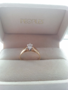 14- karat diamond engagement ring for sale