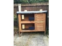 DOUBLE RABBIT HUTCH COMPLETE START SET UP COVER INCLUDED