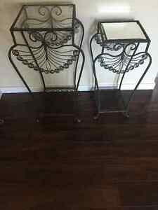 Silver Metal End Tables
