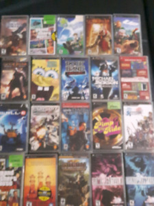 PSP and tons of games