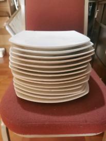 Medium size white plates