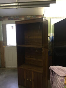 moving sale One bookcase with electric lighting