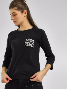 Slogan Embroidered Long Sleeve T-Shirt