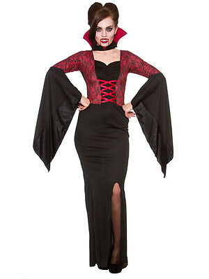Ladies Alluring Vampiress Vampire Halloween Bride Of Dracula Fancy Dress Costume - Bride Of Dracula Halloween Costumes