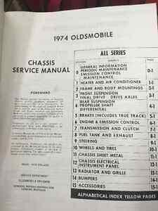 1974 Oldsmobile Service Manual Regina Regina Area image 2