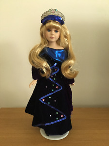 PORCELAIN DOLL with Blue Dress