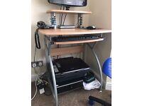 Beech Desk and Chair